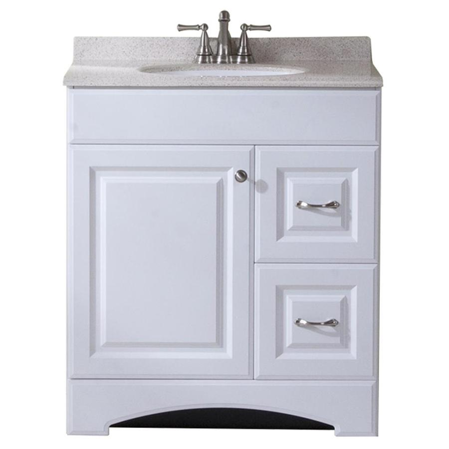 Shop Style Selections White Integral Single Sink Bathroom Vanity With Cultured Marble Top