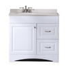 Style Selections White Integral Single Sink Bathroom Vanity with Cultured Marble Top (Common: 36-in x 19-in; Actual: 36.5-in x 18.6-in)