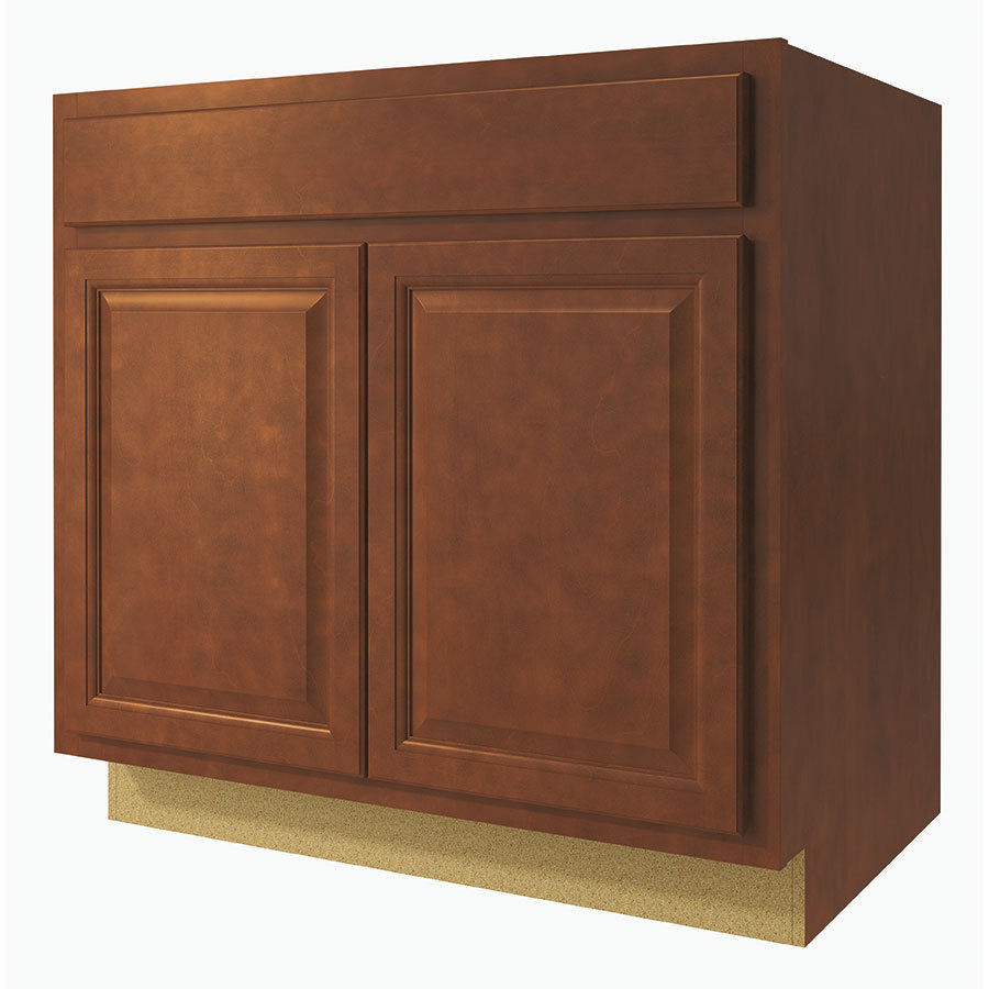 23 75 in d finished cheyenne birch sink base cabinet at lowes com