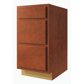Kitchen Classics Cheyenne 24-in W x 35-in H x 23.75-in D Saddle Birch Drawer Base Cabinet