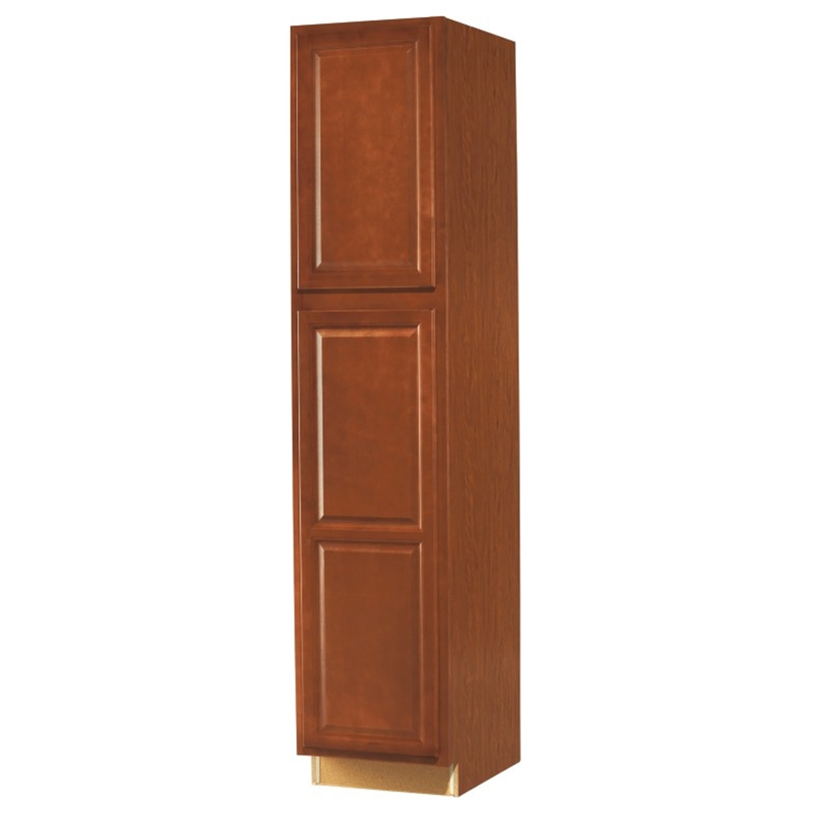 Shop kitchen classics 24 in w x 84 in h x d finished cheyenne birch pantry kitchen wall Kitchen cabinets 75 off