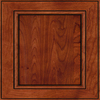 Diamond Kelby 14.75-in x 14.75-in Whiskey Black Cherry Square Cabinet Sample
