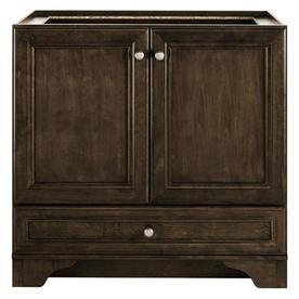 Shop diamond fresh fit webster mink espresso transitional - Lowes bathroom vanities without tops ...