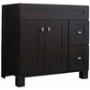Diamond Fresh Fit Palencia Espresso Contemporary Bathroom Vanity (Common: 36-in x 21-in; Actual: 36-in x 21-in)