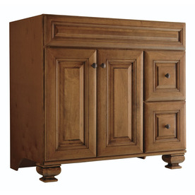 Diamond Ballantyne Mocha with Ebony Glaze Traditional Birch Bathroom Vanity (Common: 36-in x 21-in; Actual: 36-in x 21-in)