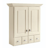 Diamond Britwell 28.39-in W x 31.28-in H x 9.18-in D Cream Bathroom Wall Cabinet