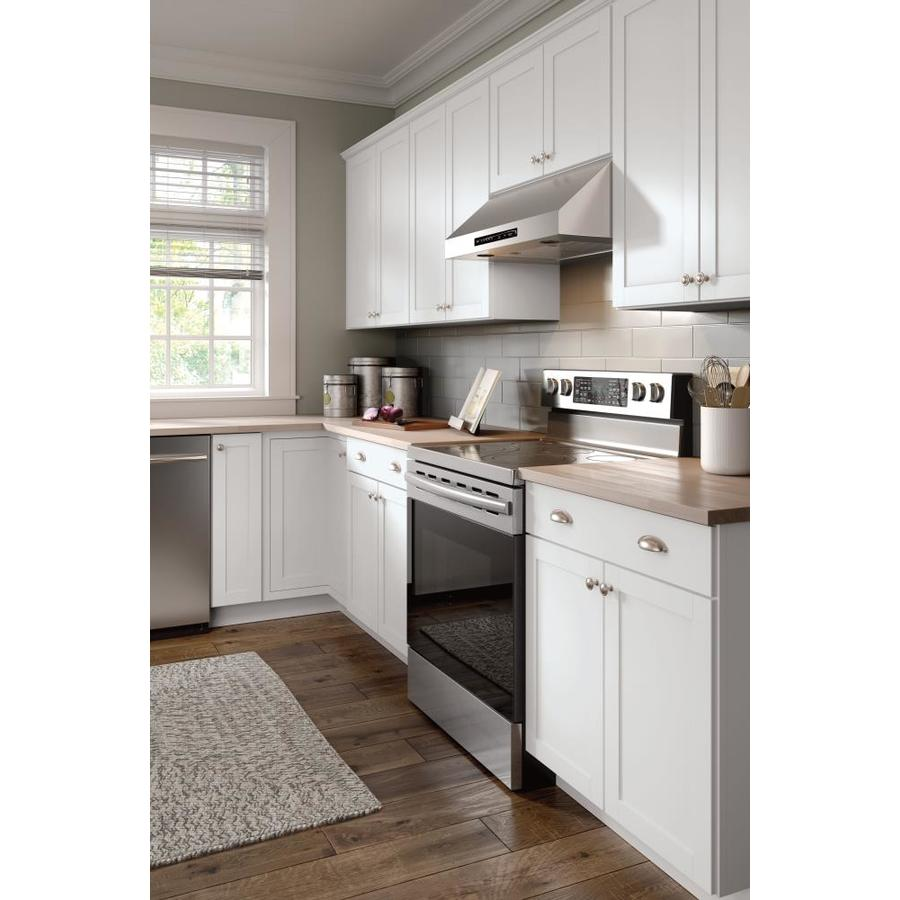 Diamond Now Arcadia 30 In W X 35 In H X 23 75 In D Truecolor White Door And Drawer Base Stock Cabinet In The Stock Kitchen Cabinets Department At Lowes Com