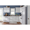 Kitchen Classics Concord 36-in W x 35-in H x 23.75-in D Painted White Sink Base Cabinet