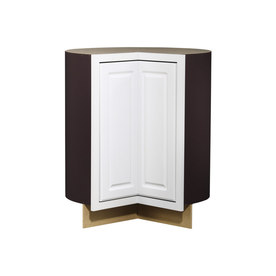 Kitchen Classics 35-in H x 36-in W x 24-in D Concord White Lazy Susan Base Cabinet