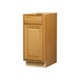 35-in H x 15-in W x 24-in D Portland Oak Door and Drawer Base Cabinet