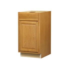 Kitchen Classics 35-in H x 18-in W x 24-in D Portland Oak Door and Drawer Base Cabinet
