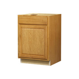 Kitchen Classics 24-in W x 35-in H x 23.75-in D Finished Portland Oak Door and Drawer Base Cabinet