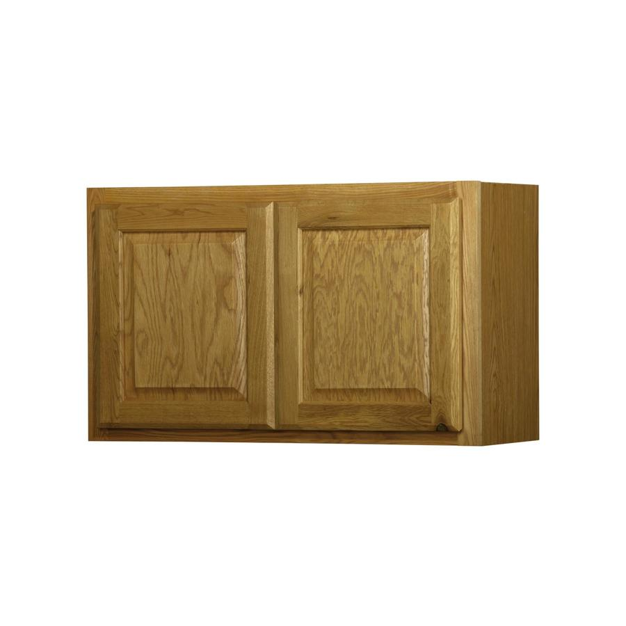 In X 12 In Portland Oak Double Door Kitchen Wall Cabinet At