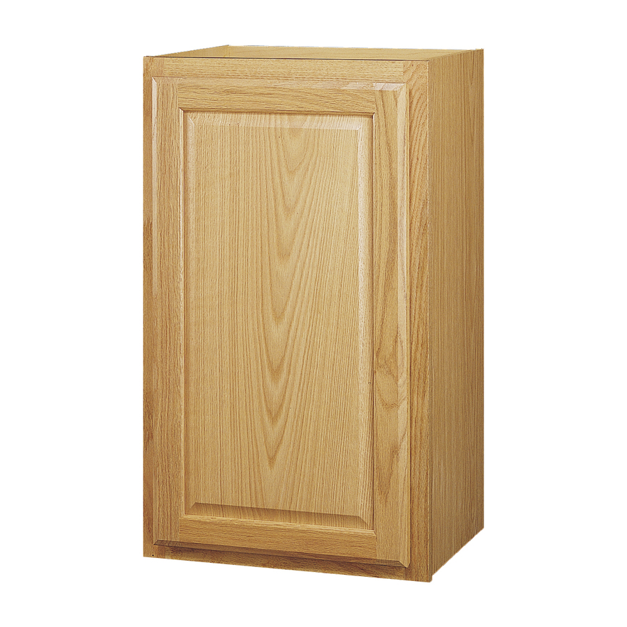 In X 12 In Portland Oak Single Door Kitchen Wall Cabinet At
