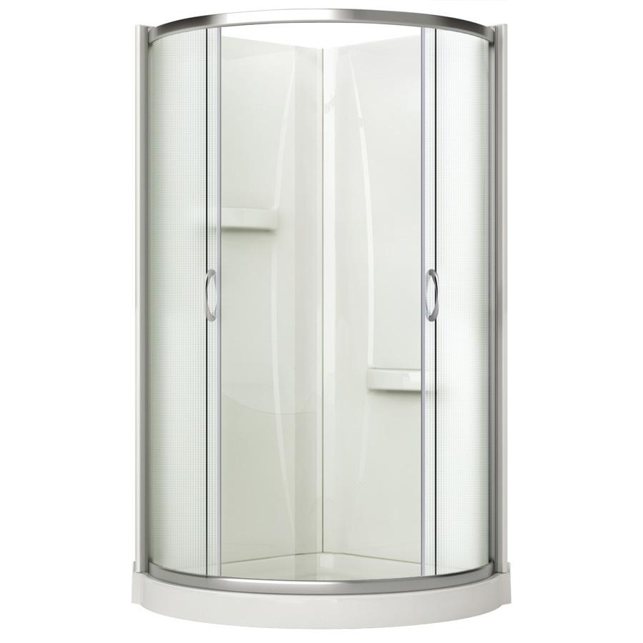 Shop Aciflex 76 H X 36 W X 36 L Chrome Round Corner Shower Kit