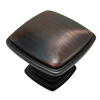 Richelieu Brushed Oil-Rubbed Bronze Square Cabinet Knob