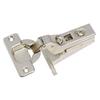 Blum 2-Pack 5-in x 4.50 In. Brushed Nickel Concealed Self-Closing Cabinet Hinges