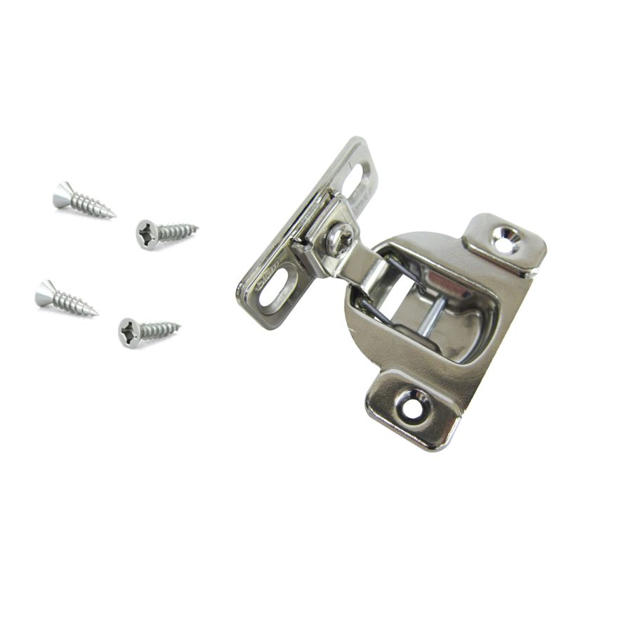 Shop blum 2 1 2 in x 2 in satin nickel surface cabinet hinge at - Lowes hinges kitchen cabinets ...
