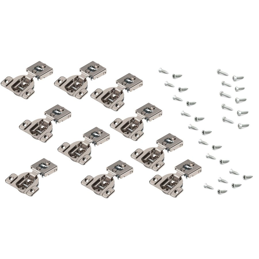 shop blum 7 16 in nickel concealed self closing cabinet hinge at