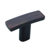 Richelieu Expression Brushed Oil-Rubbed Bronze Rectangular Cabinet Knob