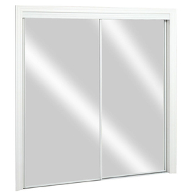 Lowes Interior Doors on Reliabilt 48 In X 80 In White Mirrored Interior Sliding Door
