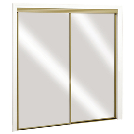 ReliaBilt 48-in x 80-in Mirrored Interior Sliding Door