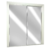 ReliaBilt 60-in x 80-in White Mirrored Interior Sliding Door