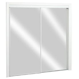 ReliaBilt Flush Mirror Sliding Closet Interior Door (Common: 72-in x ...