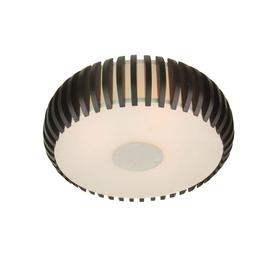 allen + roth 14.75-in W Black/White Ceiling Flush Mount