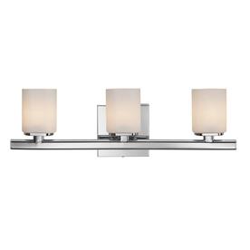 Style Selections 3-Light Marond Chrome Bathroom Vanity Light