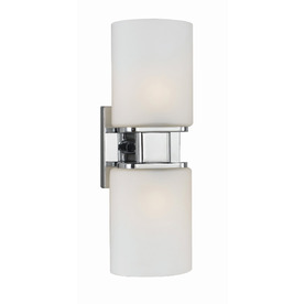 Style Selections 2-Light Dolante Chrome Bathroom Vanity Light