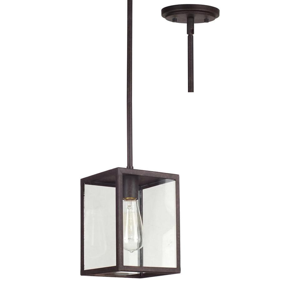 allen roth bristow 6 5 in w oil rubbed bronze standard pendant light. Black Bedroom Furniture Sets. Home Design Ideas