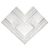 ARCHITECTURAL ORNAMENT 1-3/4-in x 5-1/4-in x 3-5/8-in Paint Grade Plastic Inside Corner Crown Block