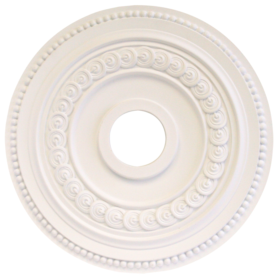 Ceiling Rosettes At Lowe S : Shop portfolio white medallion at lowes