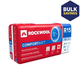 Roxul Wood Stud R15 15.25-in x 47-in Unfaced Stone Wool Batt Insulation with Sound Barrier
