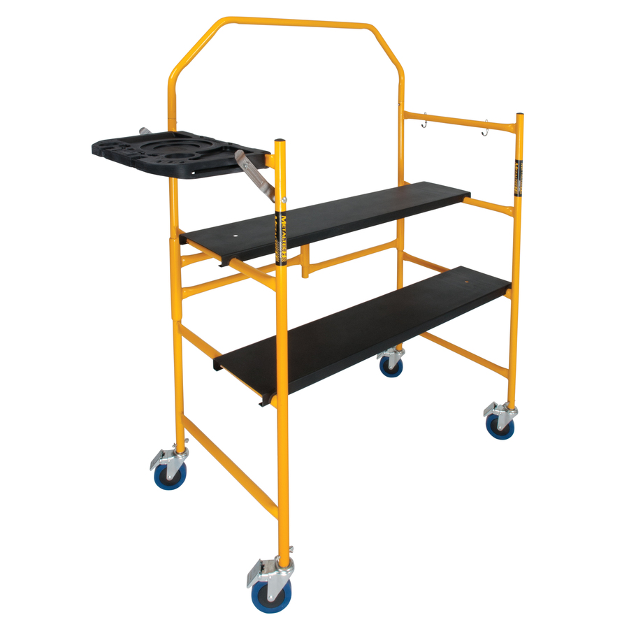 Types Of Portable Scaffolding : Shop metaltech steel mini folding scaffold stepladder at