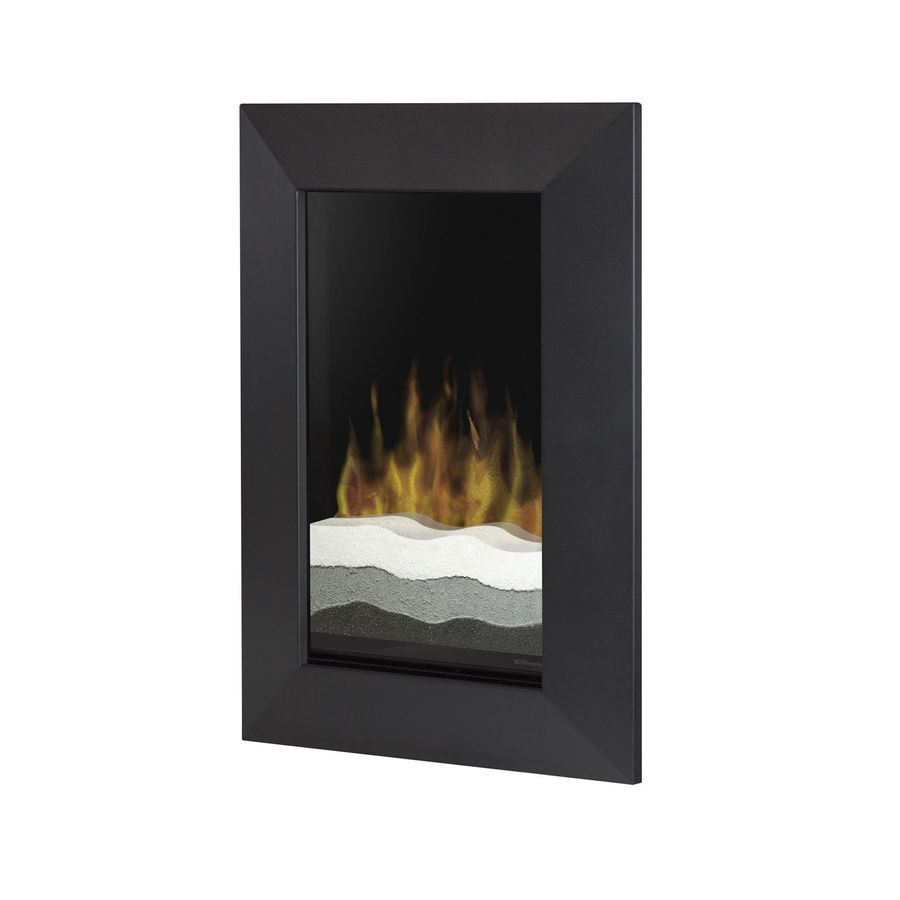 shop dimplex 24 in w black metal electric fireplace with