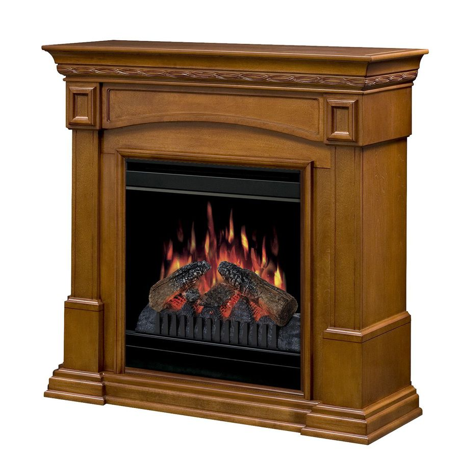 Shop Dimplex 37 In W Amaretto Wood Electric Fireplace With Thermostat And Remote Control At