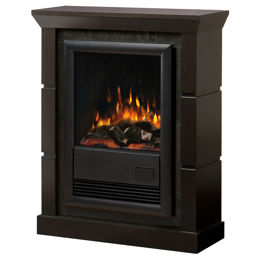 Shop Electralog 29 In W 5 120 Btu Espresso Wood And Metal Wall Mount Electric Fireplace With