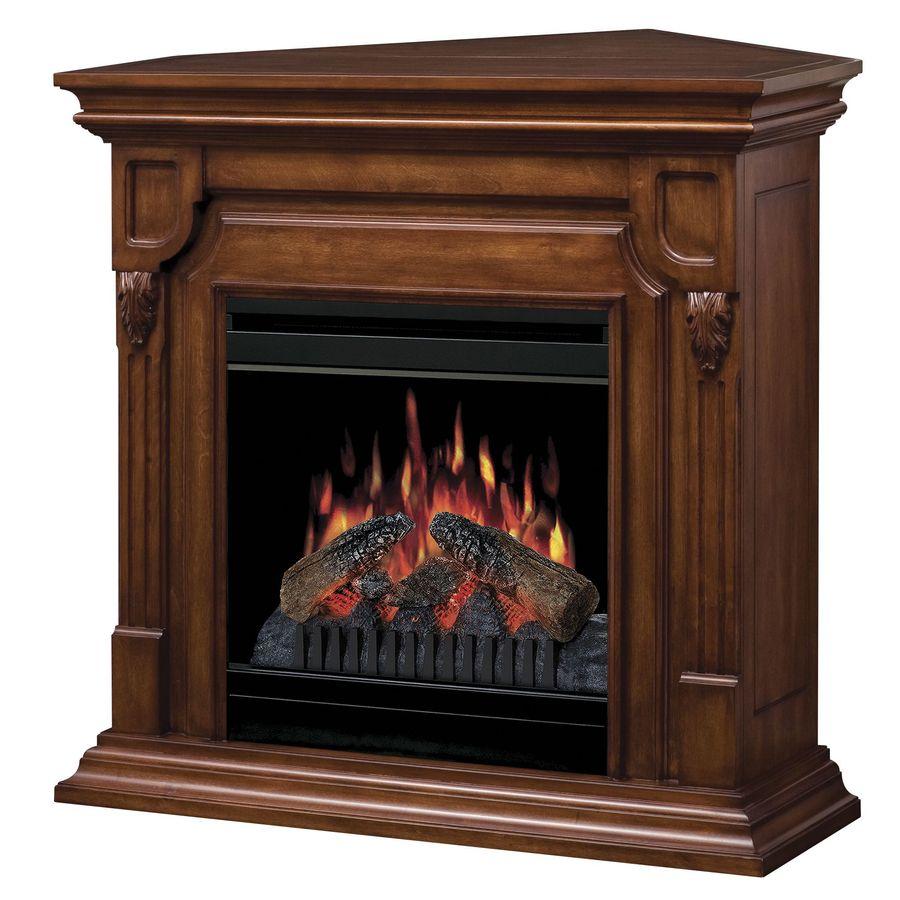 Shop Dimplex W 5 120 Btu Burnished Walnut Wood And Metal Corner Or Wall Mount Electric