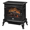 Dimplex 25-in W 4,915-BTU Gloss Black Wood and Metal Fan-Forced Electric Stove with Thermostat and Remote Control