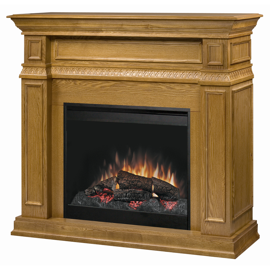 Shop Dimplex 49 In W Oak Wood Electric Fireplace With Thermostat And Remote Control At