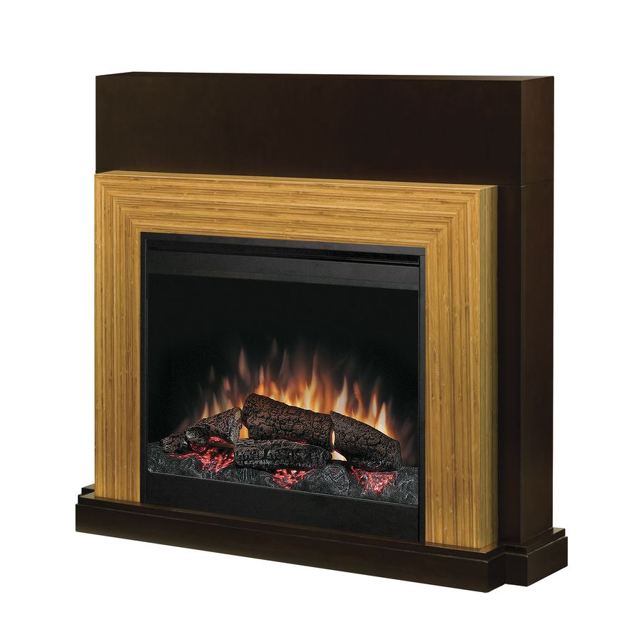 Shop Dimplex 45 In W Espresso And Bamboo Wood Electric Fireplace With Thermostat And Remote