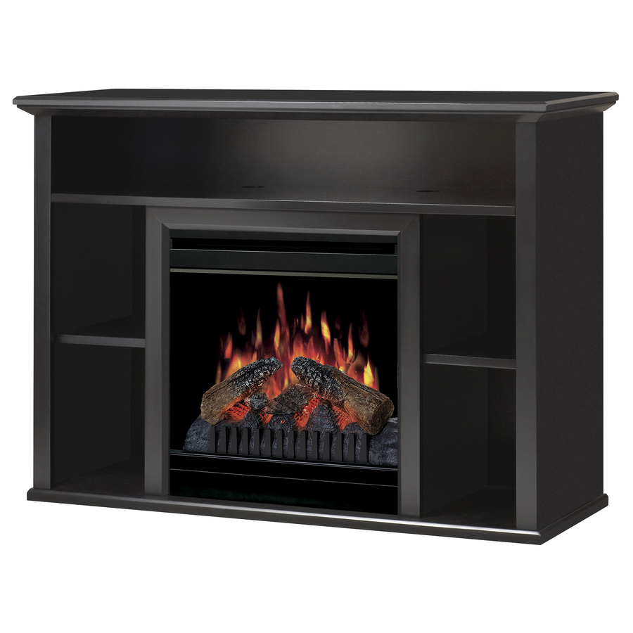 Shop Dimplex 46 5 In W Black Electric Fireplace With Thermostat And Remote Control At