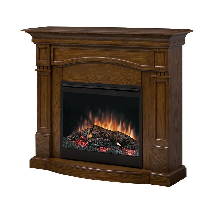 Shop Style Selections 26 Homestead Oak Electric Fireplace At