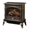 Dimplex 25-in W 4,915-BTU Bronze Wood Flat Wall Fan-Forced Electric Stove with Remote Control