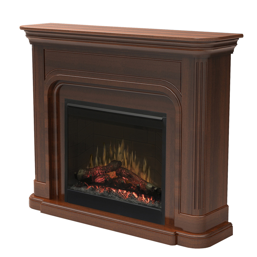 Shop Dimplex 52 5 In W 4 777 Btu Burnished Walnut Wood Wall Mount Electric Fireplace With