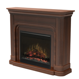 Dimplex 52.5-in W 4,777-BTU Burnished Walnut Wood Wall-Mount Electric Fireplace with Thermostat and Remote Control