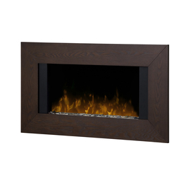 Shop Dimplex 36 In W Mocha Metal Wall Mount Electric Fireplace With Remote Control At