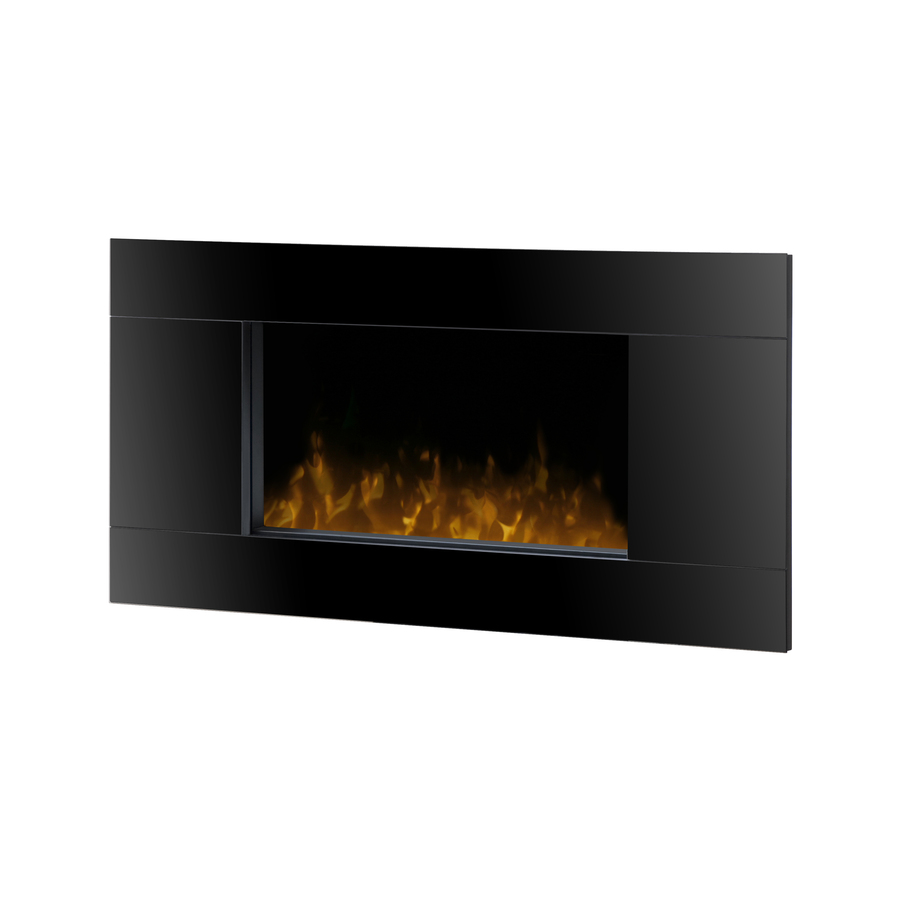 shop dimplex 40 in w black metal wall mount electric